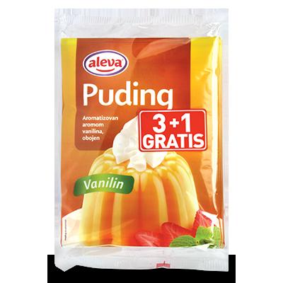 PUDING ALEVA VANILA 40G 3+1 GRATIS