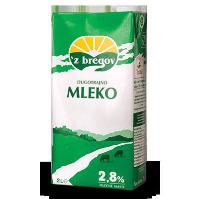 MLEKO VINDIJA ZBREGOV 2.8%MM 2L SA ČEPOM